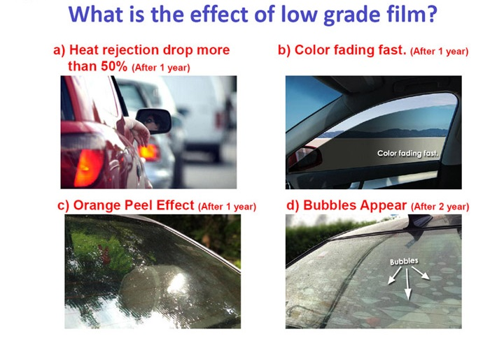 The symptoms of low quality film