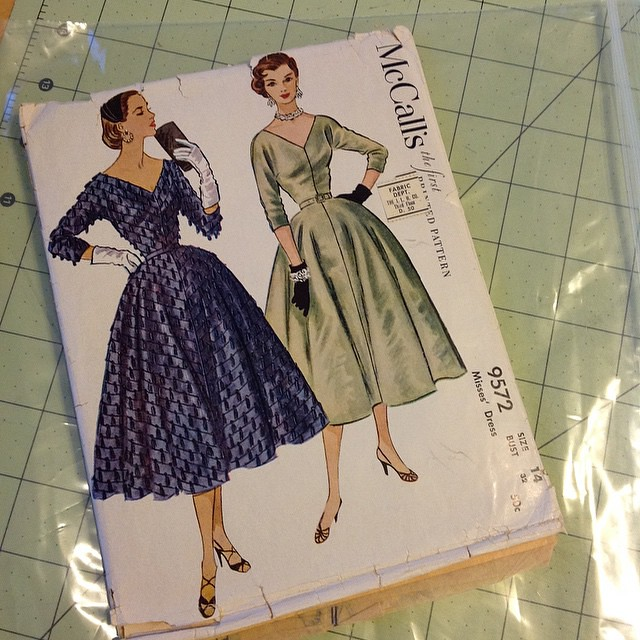 Christmas dress pattern also showed up a day early. Gonna have to grade that sucker up. #OperationXmasDress
