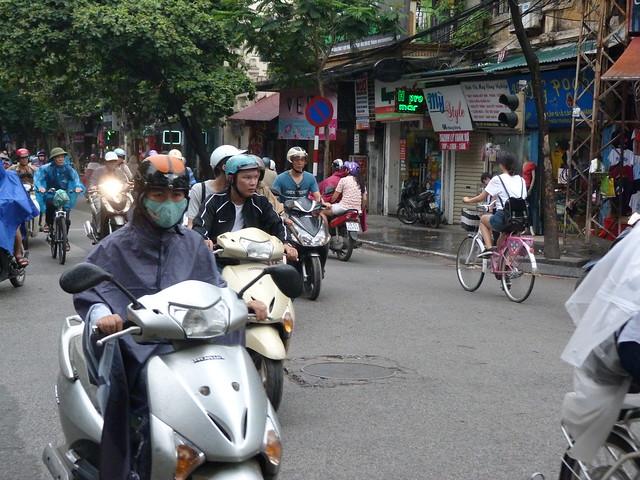 Motos en Hanoi (Vietnam)