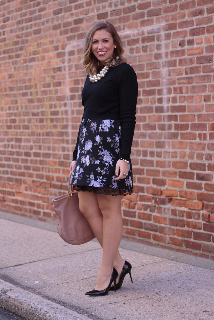 Winter Florals | Holiday Outfit | #LivingAfterMidnite