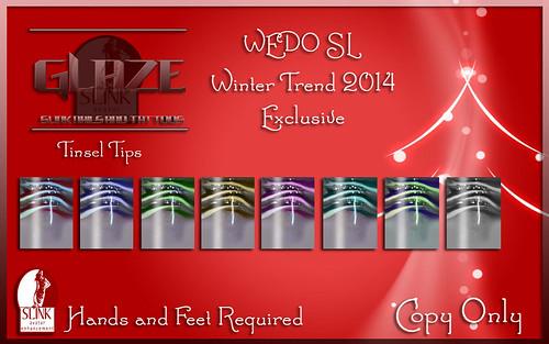 Glaze Tinsel Tips slink Nail Huds