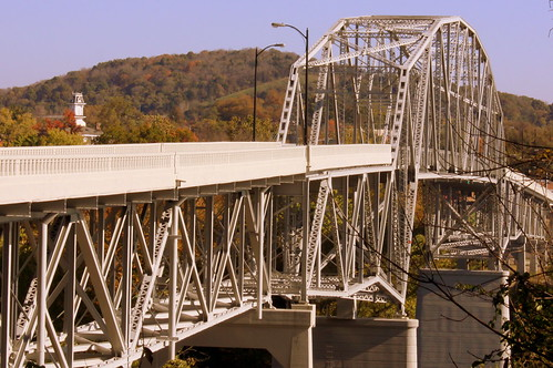 Cordell Hull Bridge (2014 reopened) South Street view - Carthage, TN