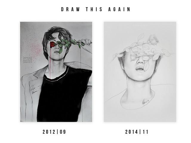draw this again challenge: taemin 2012,2014