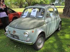 automobile, fiat, fiat 500, vehicle, city car, antique car, land vehicle,