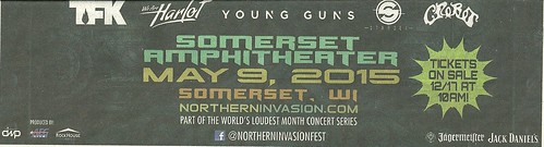 05/09/15 Northern Invasion 2015 @ Somerset Amphitheater, Somerset, WI (Bottom ad)