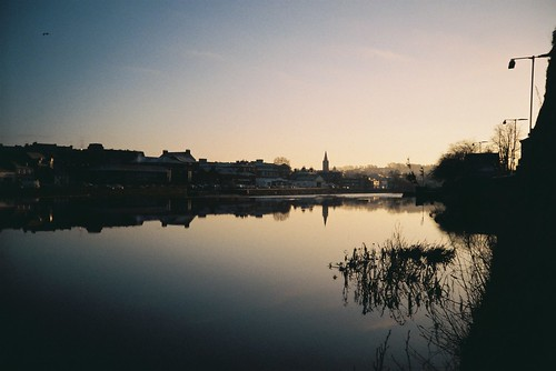 reflection film river dawn lomo lca december zenit dumfries 2014 c41 nith agfaphoto agfaphotovistaplus200
