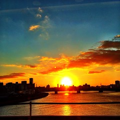 #osaka #sunset from the #shinkansen