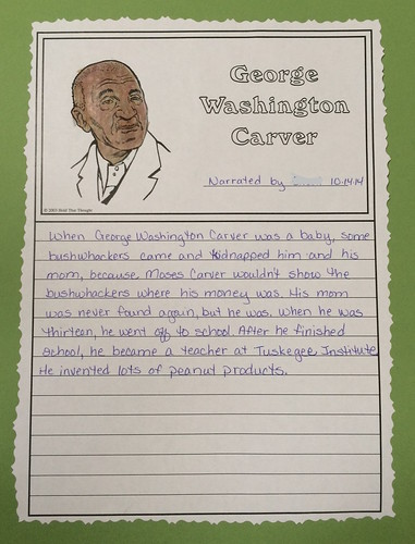 George Washington Carver Notebook Page