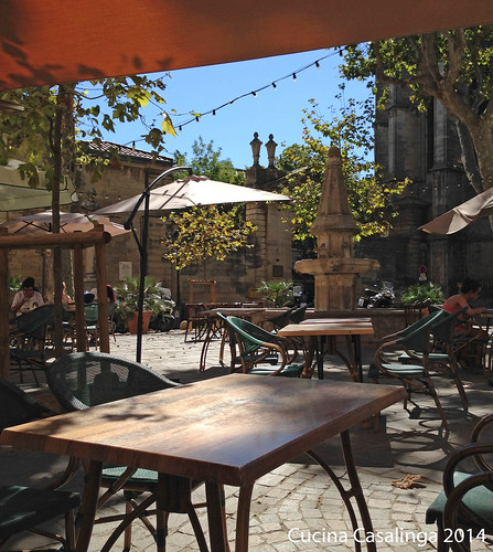 Beziers Kathedrale Cafe
