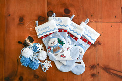 Snowbuddy snowman family stockings and supplies for christmas snowball decorations