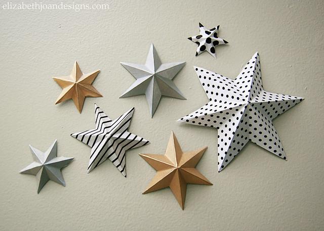 Designed Paper Stars