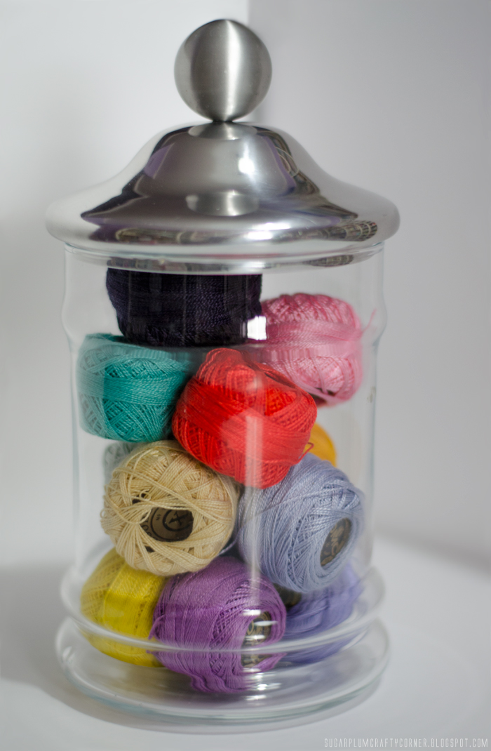 Embroidery Thread Balls Jar