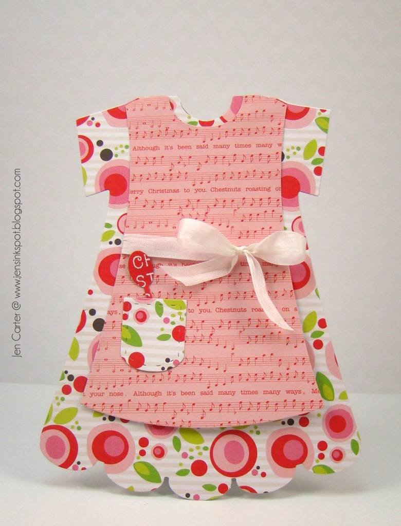 Jen Carter Christmas Apron Dress Card wm