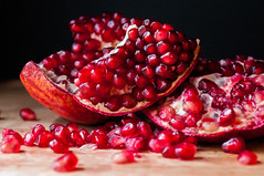 pomegranate, fruit, food,