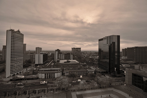 Under a Birmingham sky.