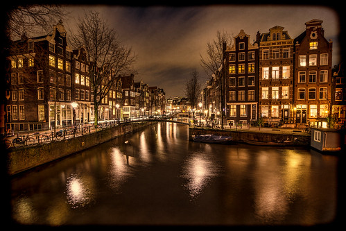 houses sky netherlands colors amsterdam clouds vintage reflections canal brouwersgracht