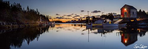 ocean panorama nova sunrise canon landscape fishing novascotia village mark iii sean atlantic 5d scotia soe schuster