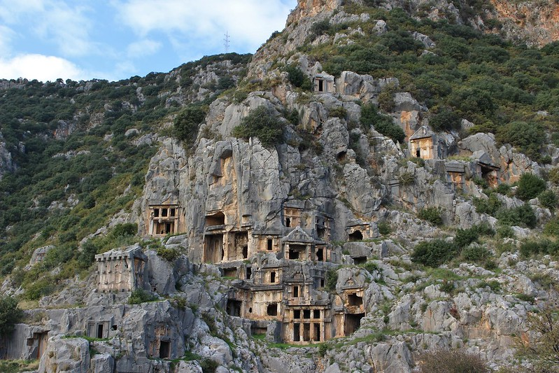 tombs, Myra, Turkey