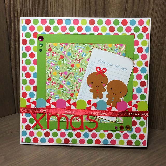 Christmas crafting - Doodlebug santa express gingerbread card