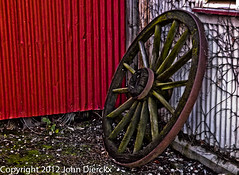 wagon wheel still life