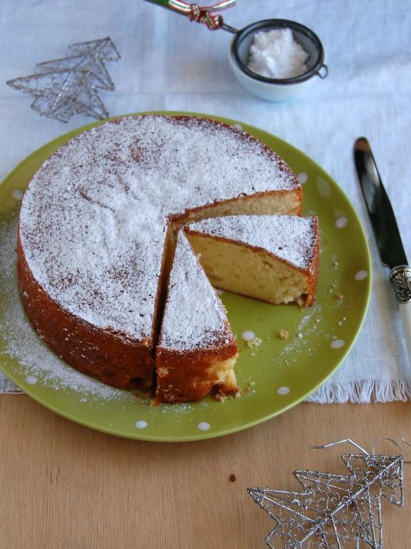 Eggnog apple cake / Bolo de maçã e eggnog