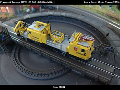Plasser & Theurer MTW 100 083 by Ayala Botto - DB Bahnbau Kibri 16082 Modelismo Ferroviario Model Trains Modelleisenbahn modelisme ferroviaire ferromodelismo