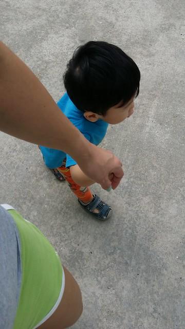 Hand in hand, we walk.