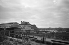 Preston Station (Hail Mary shot) Harvey's 777 Ilford Pan 400