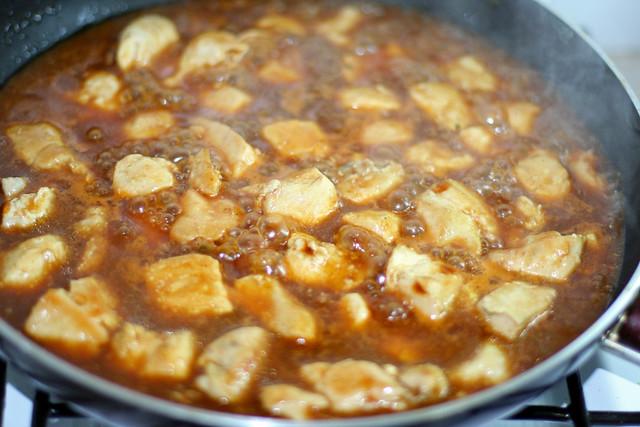 Pollo con Salsa BBQ (8)