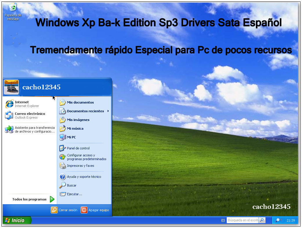 модель windows xp