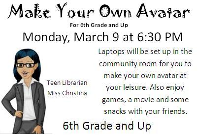 Make Your Own Avatar - Teen Tech Week