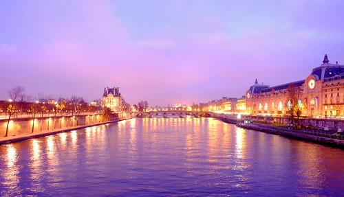 Winter dusk, Paris