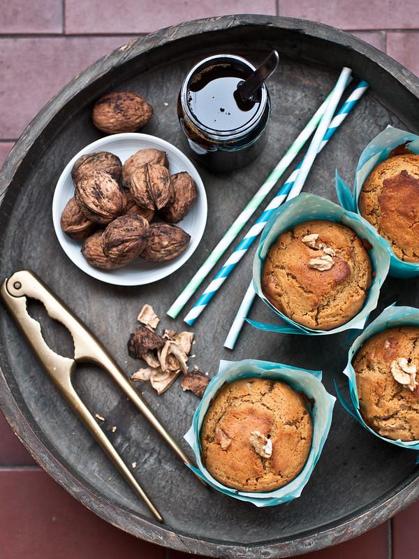 Muffin alle noci e vino cotto
