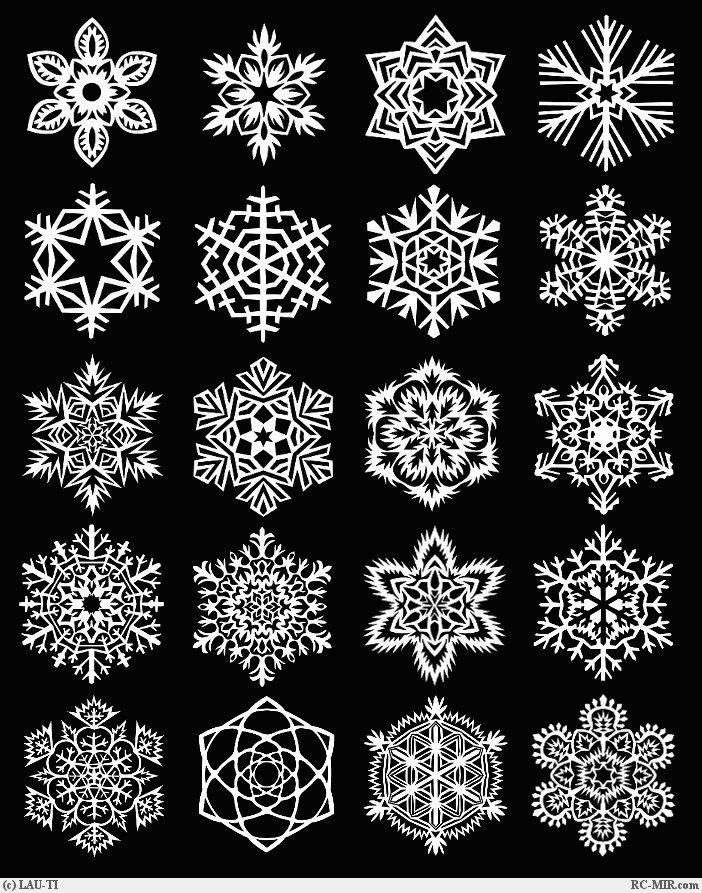 Как сделать снежинку - несколько способов
