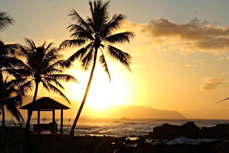 Auringonlasku, Havaiji, Oahu