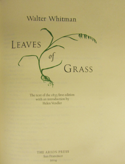 Arion press- Leaves of Grass title page