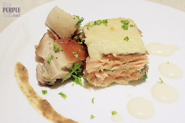 Niu Belly-Chon and Salmon En Croute