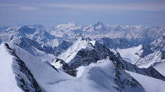 Widok ze  szczytu Pigne d Arola  3796m.