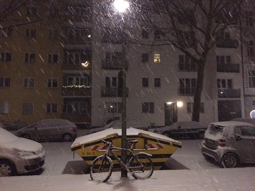 It's snowing in Berlin