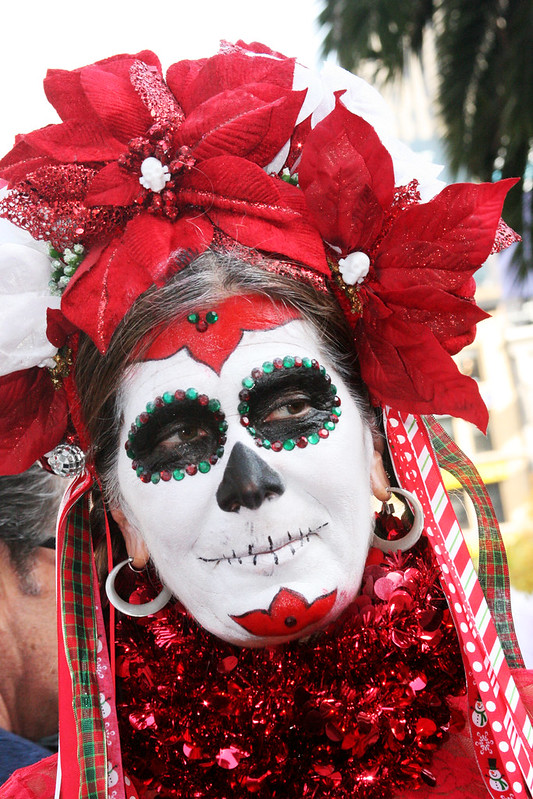 Day of the Dead Christmas Woman