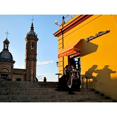 Sunset shadows in Seville, Spain #travel...