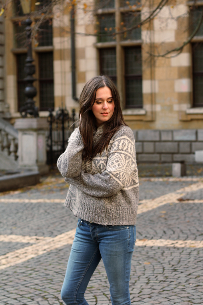 Fair Isle knit, cheap monday skinnies