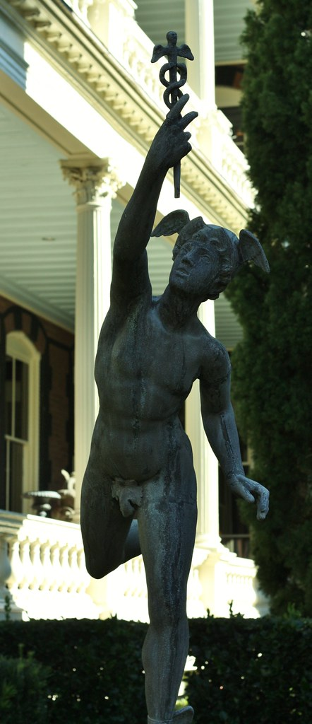 Calhoun Mansion Statue of Mercury (Hermes)