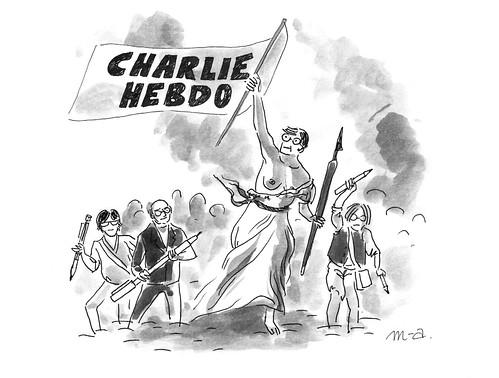 Nous sommes Charlie, par Marie-Ange Rousseau - Les étudiants du CESAN rendent hommage