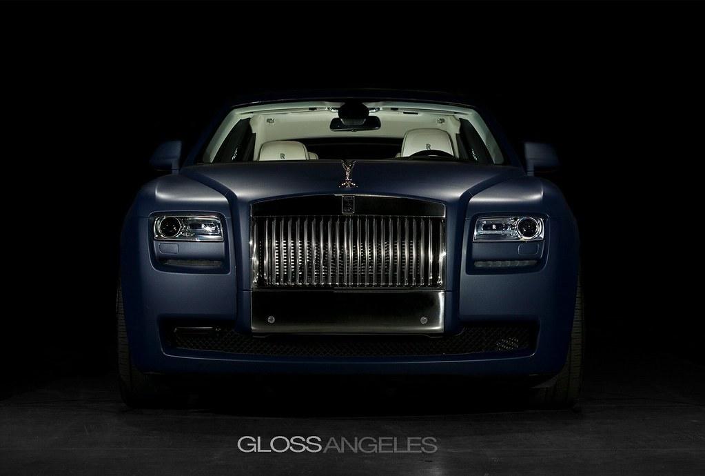 Matte Blue Rolls Royce