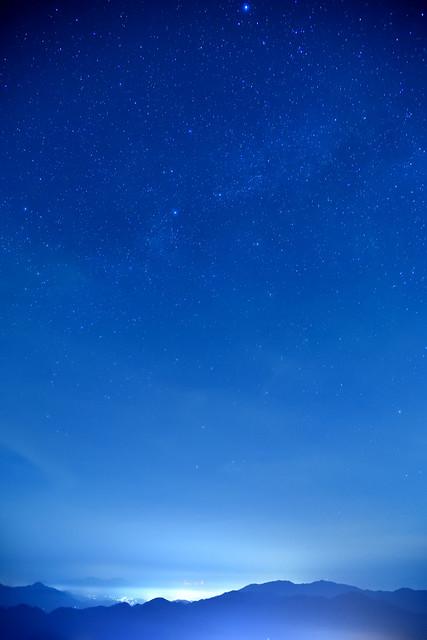 星空、岩屋山にて