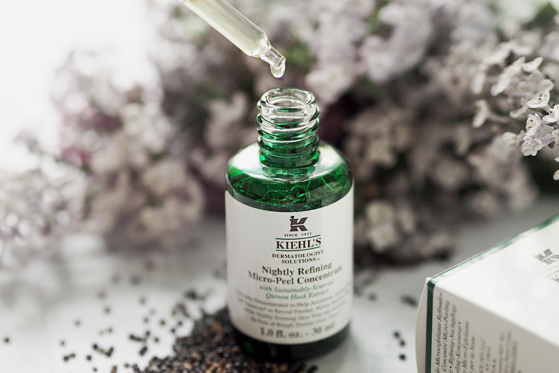kiehl's quinoa Nightly Refining Micro-Peel Concentrate overnight peeling anti-aging effect beauty beautyblogger cats & dogs blog ricarda schernus modeblogger 4