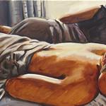 Sleeping Men 2; oil on canvas, 18 x 36 in, 2016