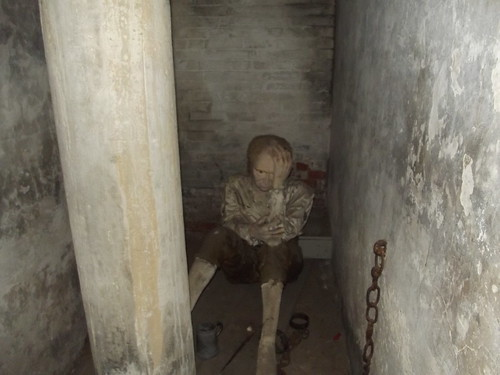 Galleries of Justice Museum - High Pavement, Nottingham - Debtor's Prison & Dark Cells - The Dark Cells - mannequin / dummy
