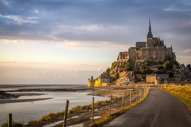 The road to Mont Saint Michel